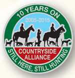 Alliance hunting badge the subject of a question in Parliament