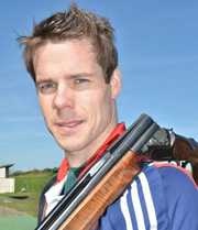 Double trap shooter Tim Kneale's 2015 is looking good