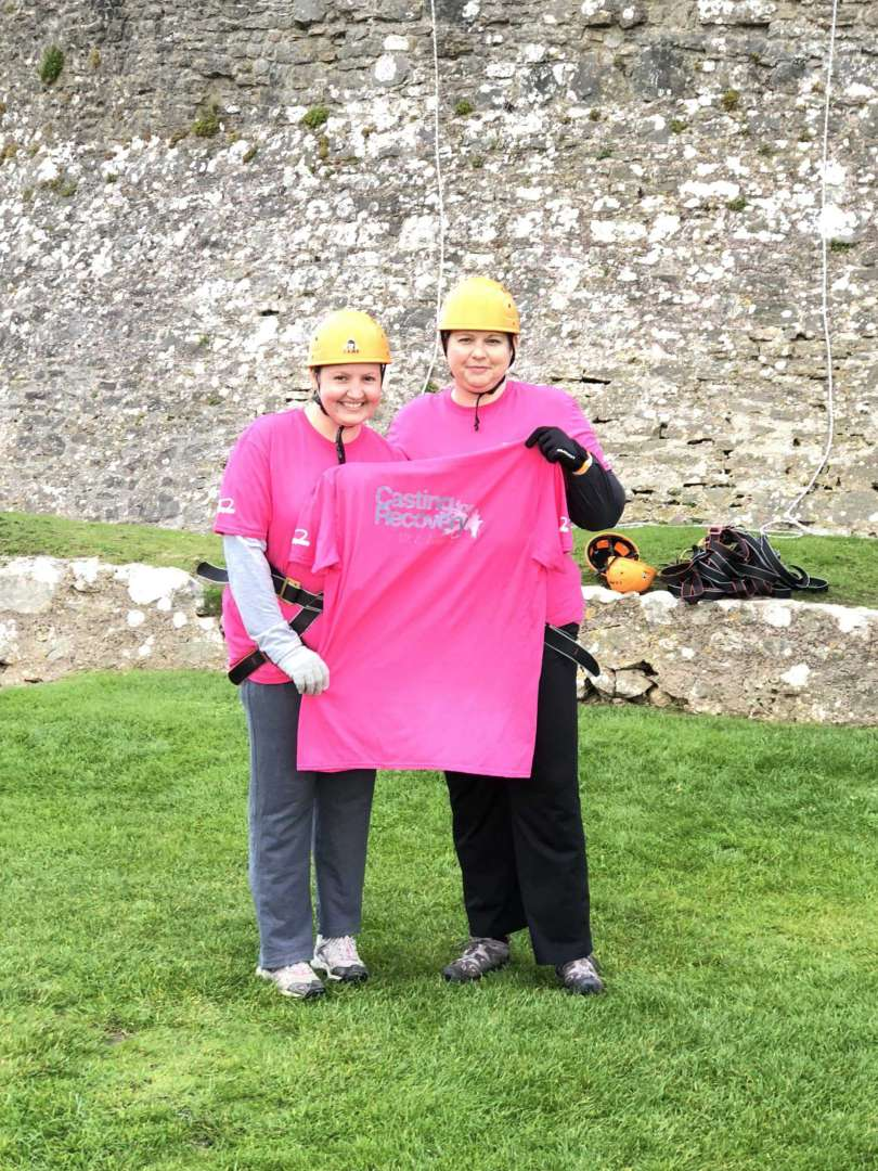Sponsored abseil exceeds its target to raise £1,600 for Casting for Recovery