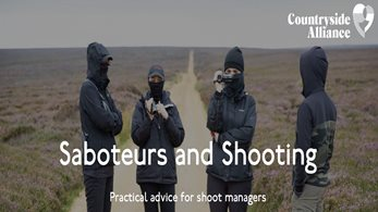 Saboteurs and Shooting – Practical Advice for Shoot Managers