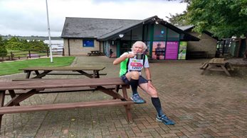 Charles Jardine runs last ever marathon around Rutland Water, raising £4,000 for Fishing for Schools
